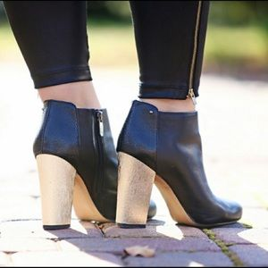Circus by Sam Edelman black booties with gold heel